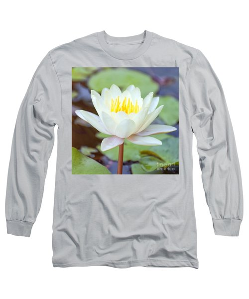 Lotus Flower 02 Long Sleeve T-Shirt by Antony McAulay