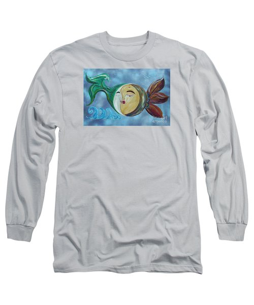 Long Sleeve T-Shirt featuring the painting Love Connect - You Are My Moon And Sun by Eloise Schneider