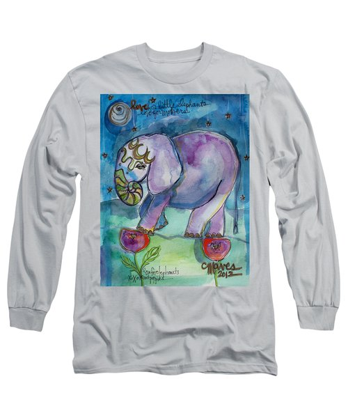 Lovely Little Elephant2 Long Sleeve T-Shirt