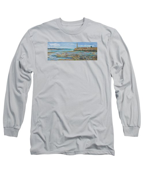 Low Tide In The Harbour. Long Sleeve T-Shirt