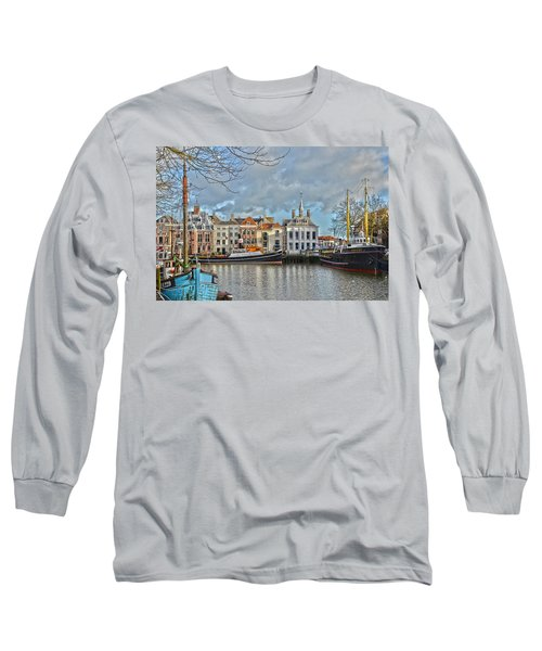 Maassluis Harbour Long Sleeve T-Shirt by Frans Blok