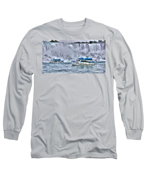 Maid Of The Mist Long Sleeve T-Shirt by Bianca Nadeau