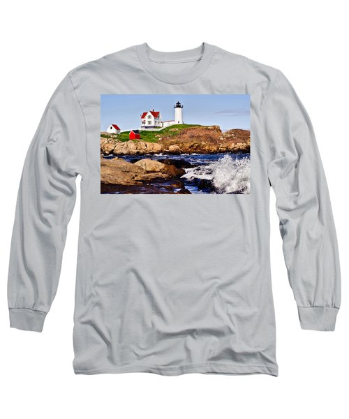 Long Sleeve T-Shirt featuring the photograph Maine's Nubble Light by Mitchell R Grosky