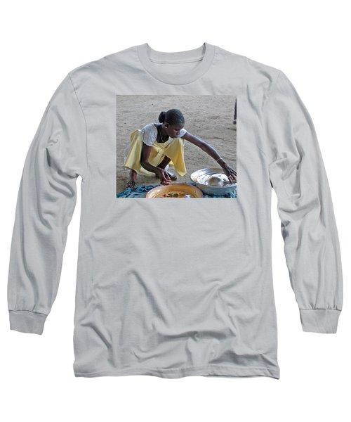 Making Lunch Dakar Senagal Long Sleeve T-Shirt by Jay Milo