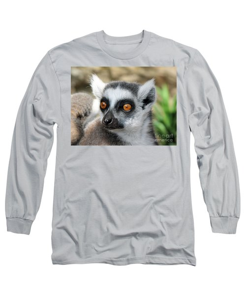 Long Sleeve T-Shirt featuring the photograph Malagasy Lemur by Sergey Lukashin