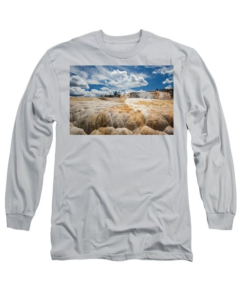 Long Sleeve T-Shirt featuring the photograph Mammouth Terraces by Jack Bell