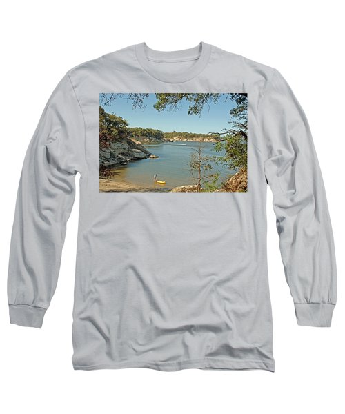 Man Going Kayaking Long Sleeve T-Shirt