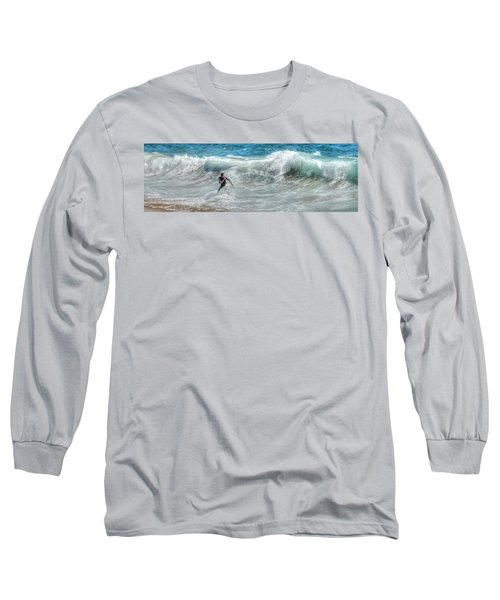 Man Vs Wave Long Sleeve T-Shirt