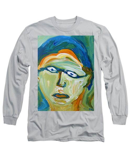 Man With Glasses Long Sleeve T-Shirt