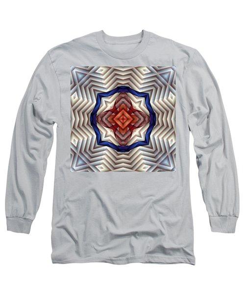 Long Sleeve T-Shirt featuring the digital art Mandala 11 by Terry Reynoldson