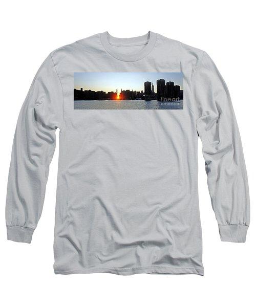 Long Sleeve T-Shirt featuring the photograph Manhattanhenge 2011 by Lilliana Mendez