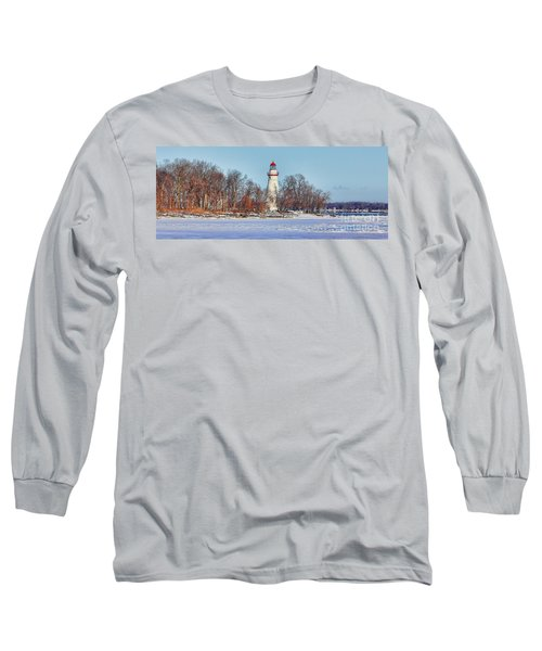 Marblehead Lighthouse In Winter Long Sleeve T-Shirt