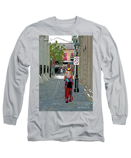 Long Sleeve T-Shirt featuring the photograph Mardi Gras In French Quarter by Luana K Perez