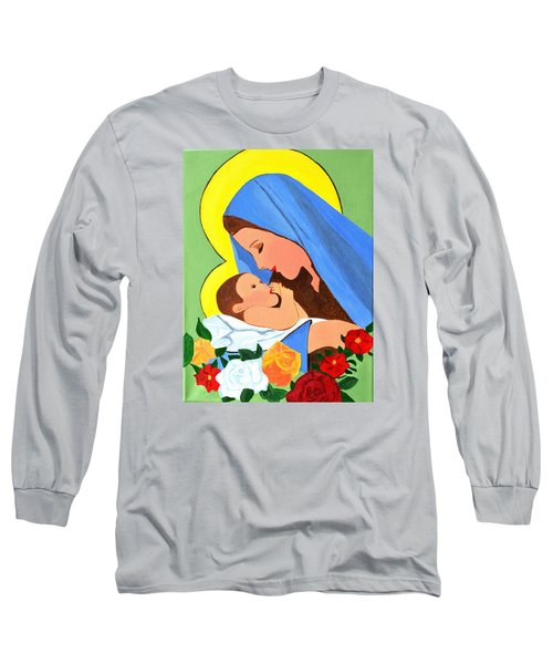 Maria And Baby Jesus Long Sleeve T-Shirt by Magdalena Frohnsdorff