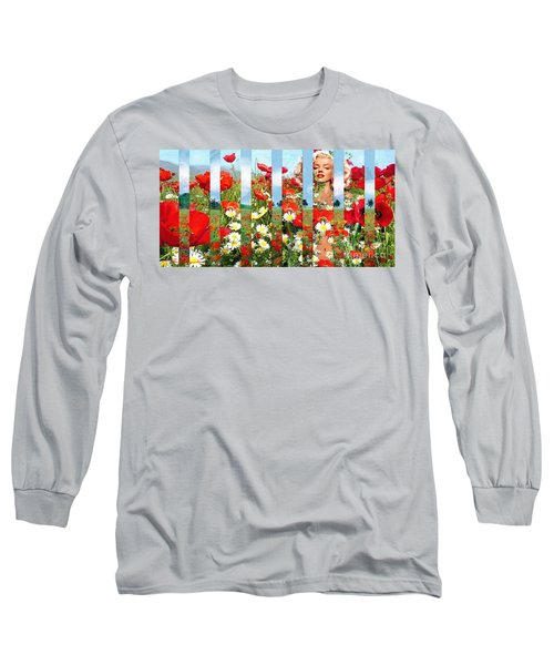 Marilyn In Poppies 1 Long Sleeve T-Shirt