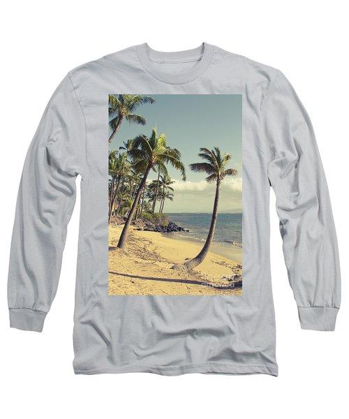 Long Sleeve T-Shirt featuring the photograph Maui Lu Beach Hawaii by Sharon Mau