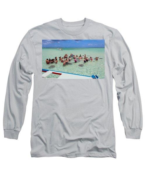 Meeting The Stingrays Long Sleeve T-Shirt