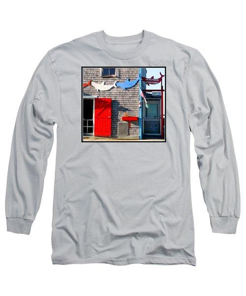 Menemsha Fish Market 3 Long Sleeve T-Shirt by Kathy Barney