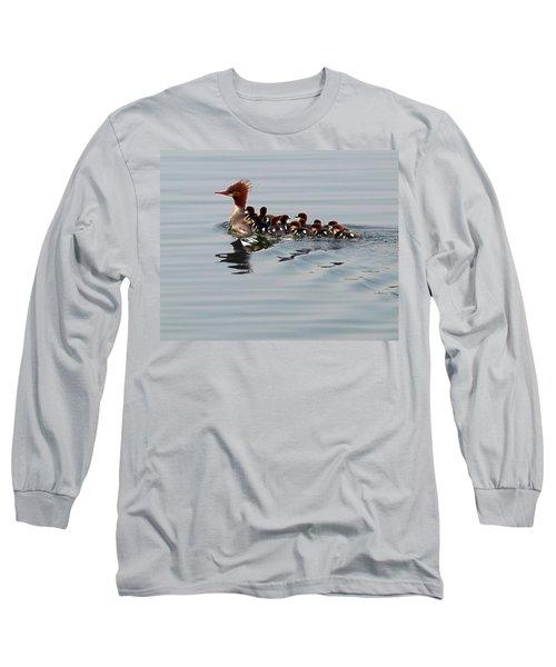 Punk Duck And Posse Long Sleeve T-Shirt by Richard Engelbrecht