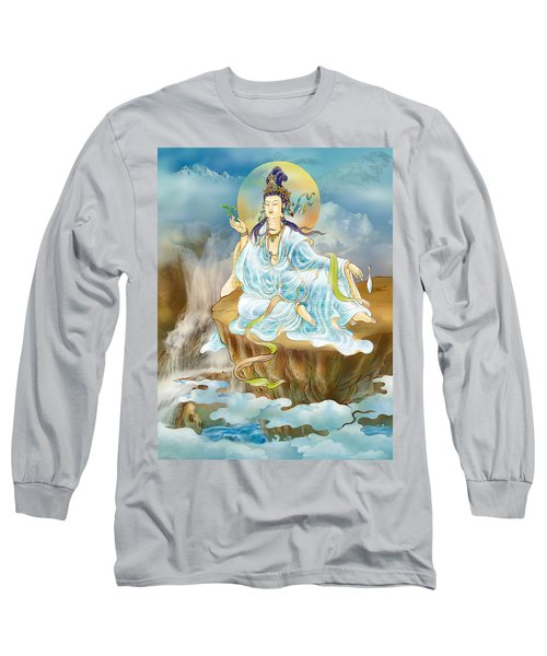 Long Sleeve T-Shirt featuring the photograph Merit King Kuan Yin by Lanjee Chee