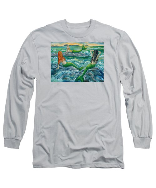 Mermaids On The Rocks Long Sleeve T-Shirt