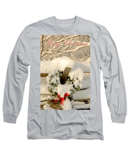 Long Sleeve T-Shirt featuring the photograph Merry Christmas by Alana Ranney