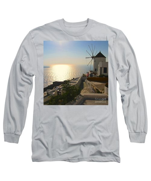 Midday On Santorini Long Sleeve T-Shirt