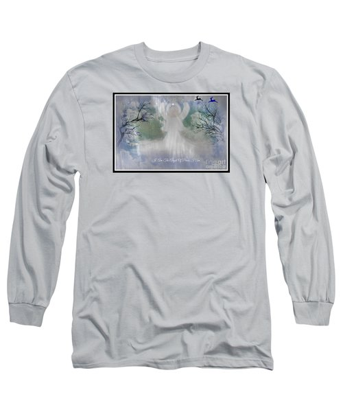 Long Sleeve T-Shirt featuring the digital art Midnight Angel Of Peace by Sherri  Of Palm Springs