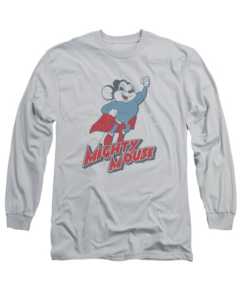 Mighty Mouse - Mighty Blast Off Long Sleeve T-Shirt by Brand A