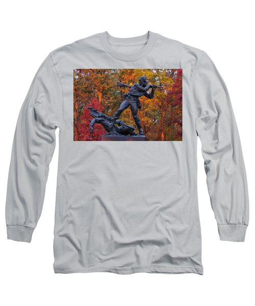 Mississippi At Gettysburg - The Rage Of Battle No. 1 Long Sleeve T-Shirt by Michael Mazaika