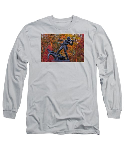 Mississippi At Gettysburg - The Rage Of Battle No. 1 Long Sleeve T-Shirt