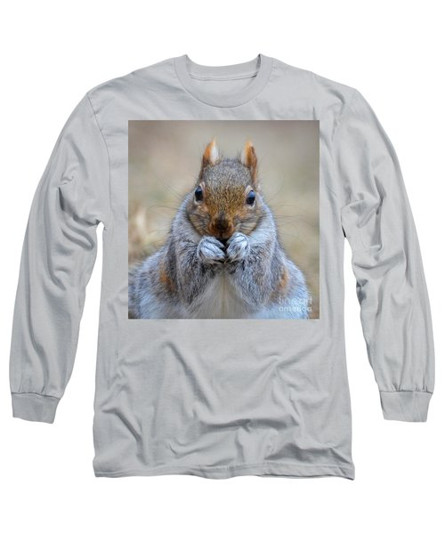 Mister Whiskers Long Sleeve T-Shirt by Amy Porter