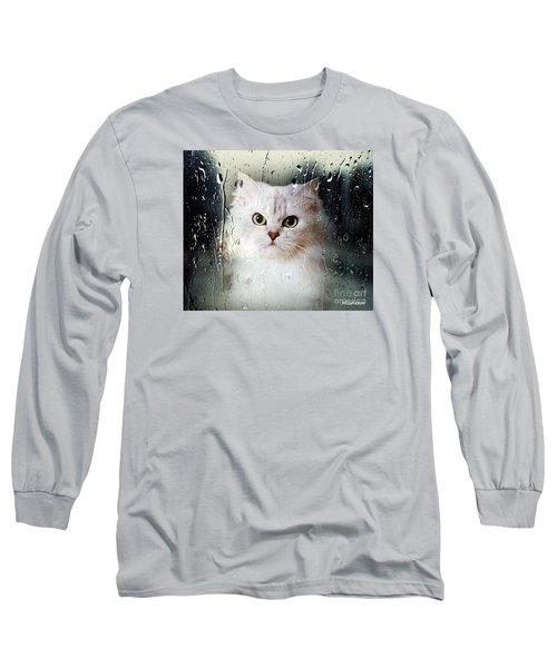Mistletoe In The Window Long Sleeve T-Shirt by Morag Bates
