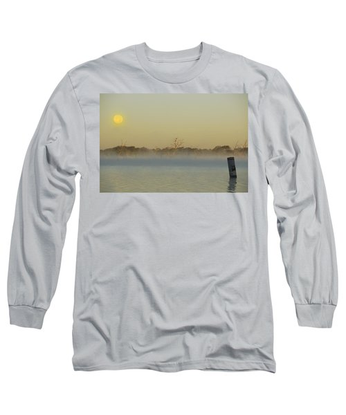 Misty Lake Long Sleeve T-Shirt by Charles Beeler