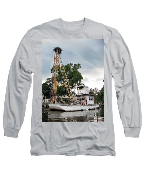 Long Sleeve T-Shirt featuring the photograph Mobile Osprey Nest by Brian Wallace