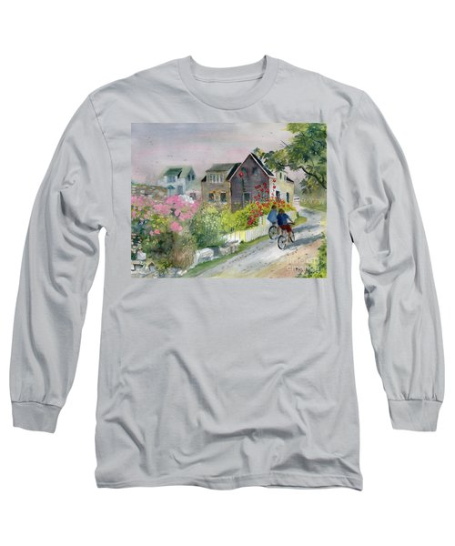Monhegan In August Long Sleeve T-Shirt by Melly Terpening