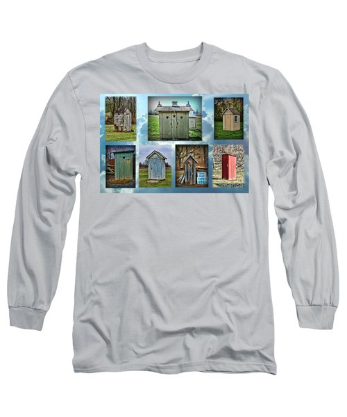 Montage Of Outhouses Long Sleeve T-Shirt