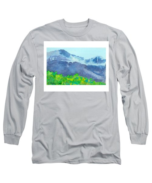 Montana Mountain Mist Long Sleeve T-Shirt by C Sitton