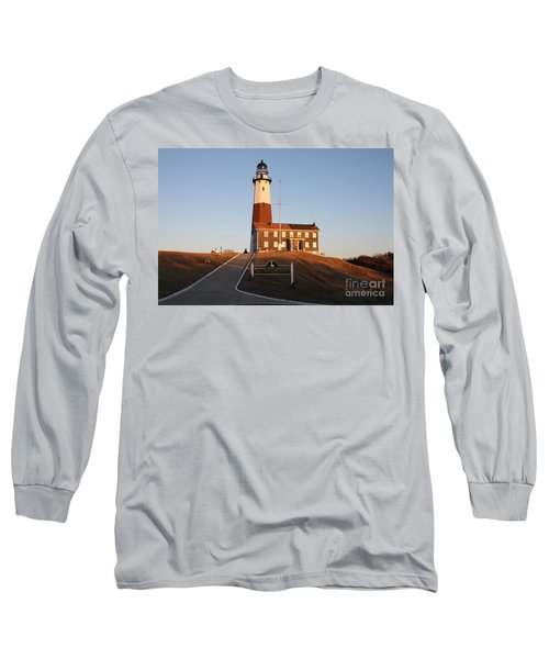 Long Sleeve T-Shirt featuring the photograph Montauk Lighthouse Entrance by John Telfer