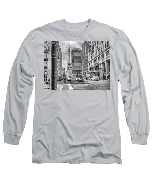 Monument Circle Long Sleeve T-Shirt by Howard Salmon