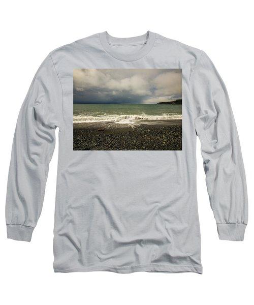 Moody Swirl French Beach Long Sleeve T-Shirt