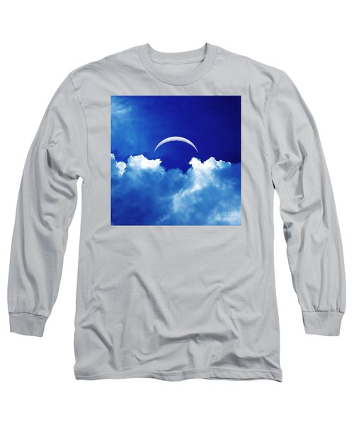Moon Cloud Long Sleeve T-Shirt by Joseph J Stevens