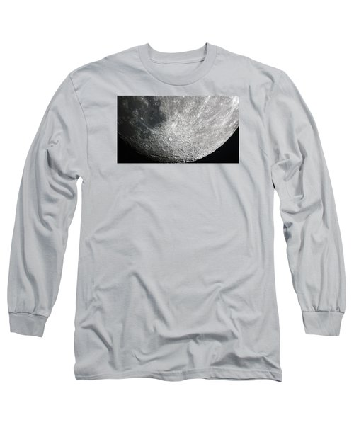 Moon Hi Contrast Long Sleeve T-Shirt by Greg Reed