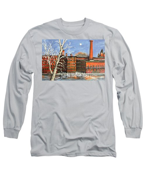 Moon Over Waltham Watch Long Sleeve T-Shirt by Rita Brown