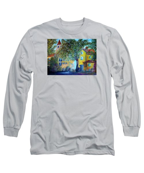 Long Sleeve T-Shirt featuring the painting Morning In Tuscany by Eloise Schneider