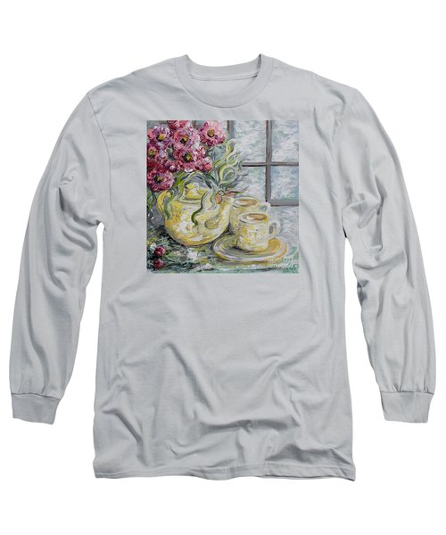 Morning Tea For Two Long Sleeve T-Shirt