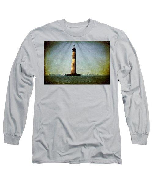 Morris Island Light Vintage Color Uncropped Long Sleeve T-Shirt
