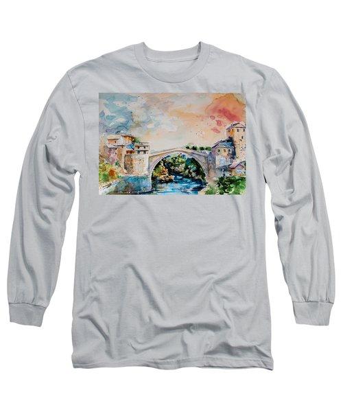 Mostar Bridge Long Sleeve T-Shirt