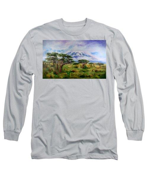 Mount Kilimanjaro Tanzania Long Sleeve T-Shirt