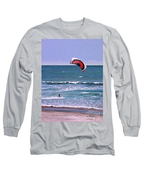 Mount Maunganui 160308 Long Sleeve T-Shirt by Sylvia Kula
